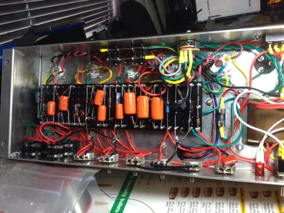 Completed JTM-45 Amplifier Build