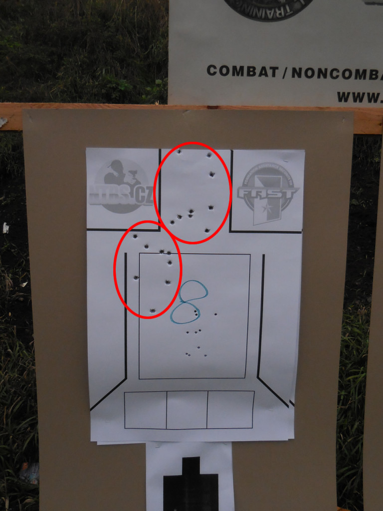 2 groups, I adjusted after seeing where the group was going whilst aiming for centre mass… Headshots keep the Zombies down….