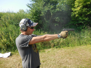 Dave shooting the 1911