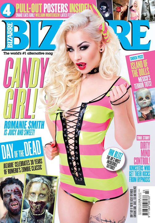 Romanie Smith Bizarre Cover - Photographed By Rowan Murray - Model & MUAH Romanie Smith - Latex By Westward Bound