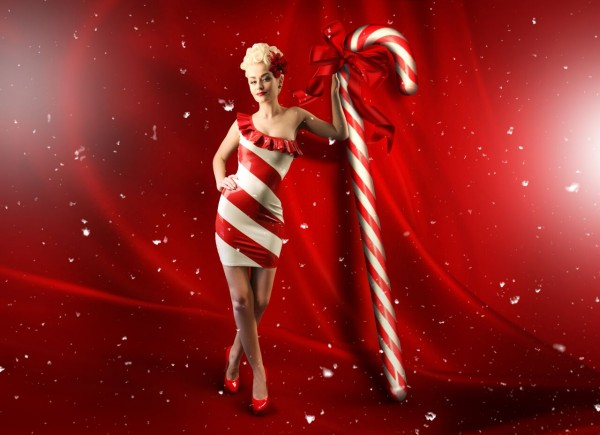 Merry Christmas! Romanie Smith Candy Cane - Photographed By My Boudoir - MUAH By Sarah Elliott Outfit Designed By Kimber Zorenko Latex