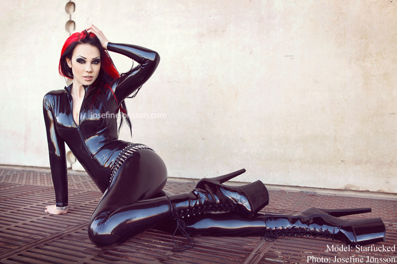 Starfucked - Catsuit by Mad duck latex design© Josefine Jönsson 2014, www.josefinejonsson.com