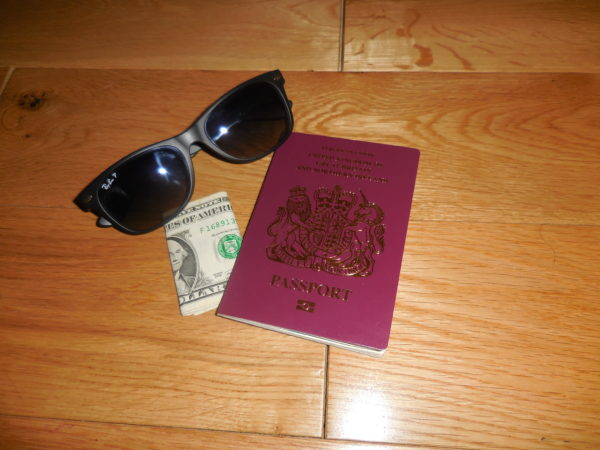 Passport, Sunglasses and Cash