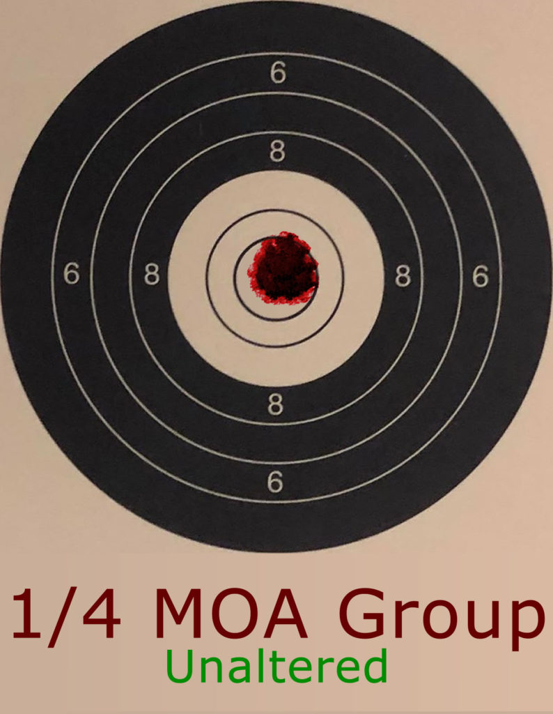 1/4 MOA Group Example.